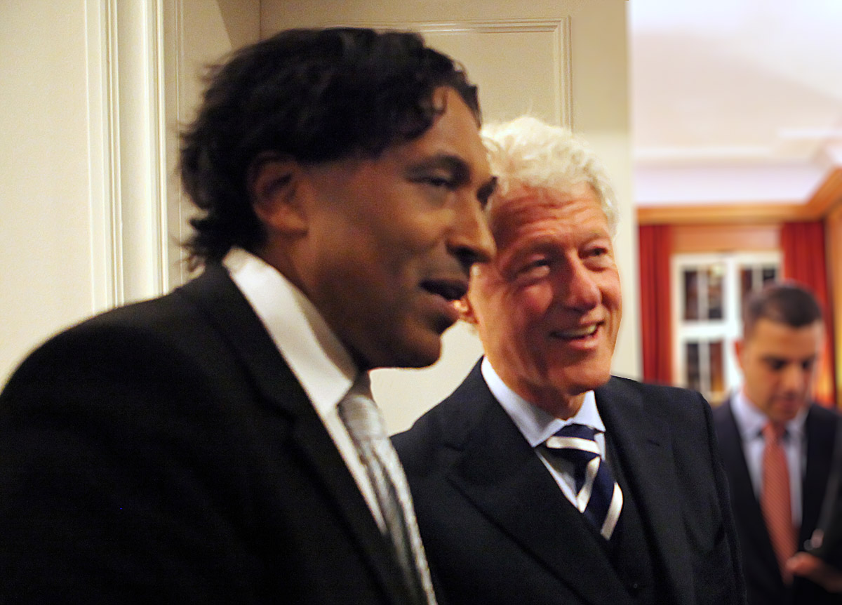 Bill Clinton & Cherno Jobatey