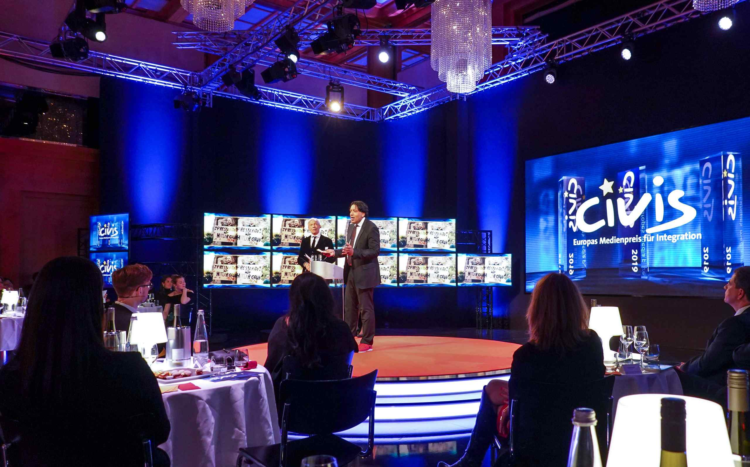 Cherno Jobatey hosting CIVIS Media Prize ARD-TV
