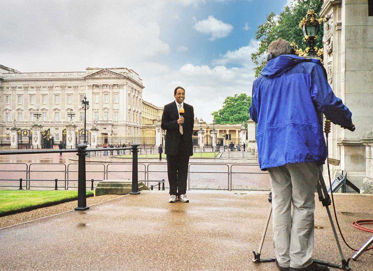 Cherno Jobatey hosts ZDF Royale Buckingham Palace London