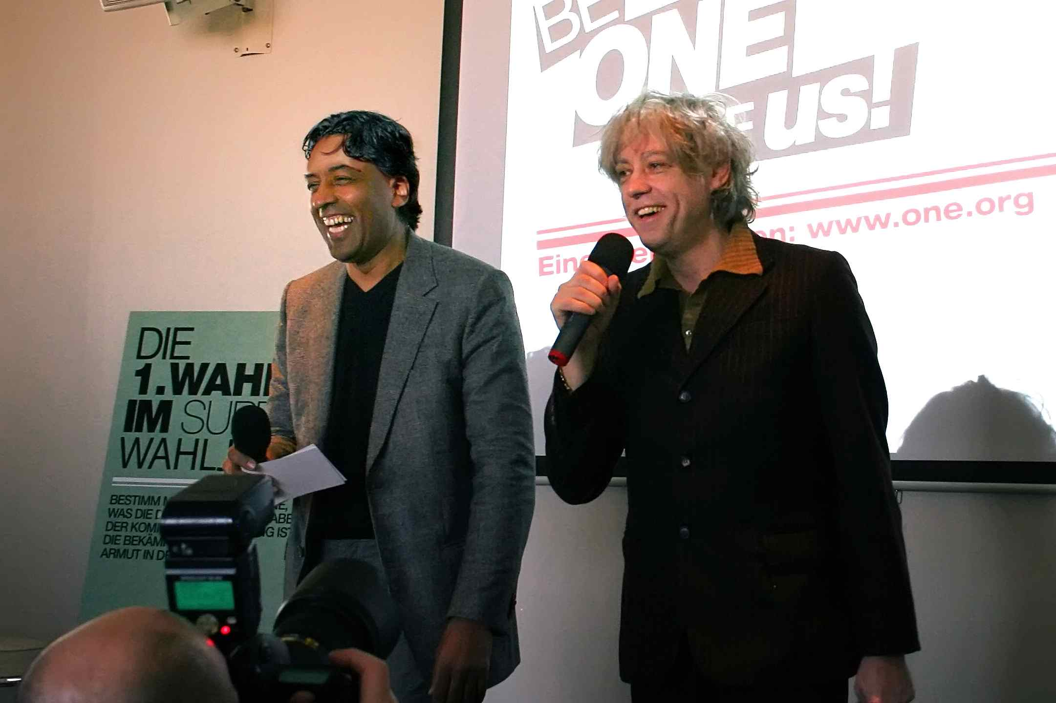 Campaigning with Bob Geldof for ONE.ORG