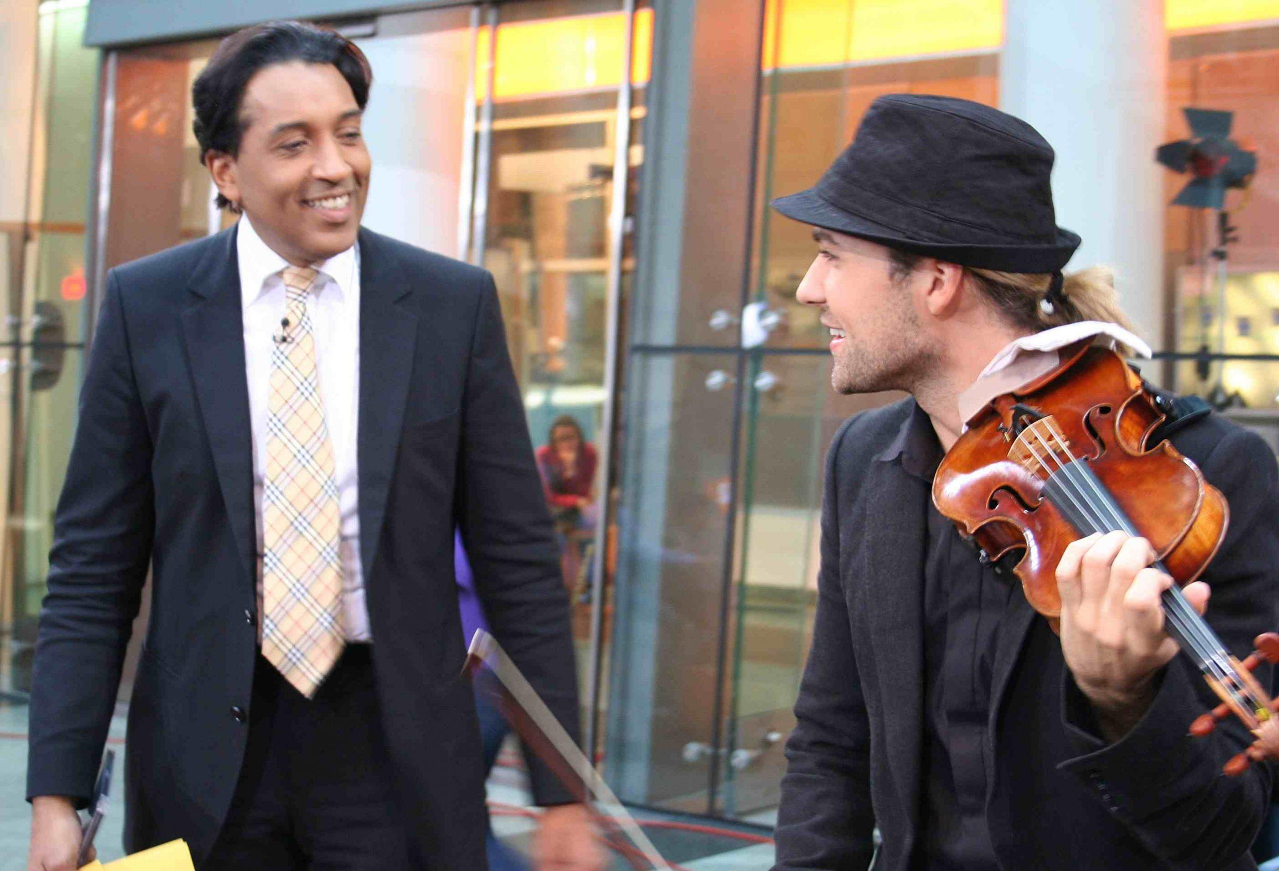 David Garrett als Gast bei Cherno Jobatey im ZDF-Morgenmagazin