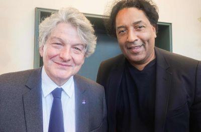 Thierry Breton &Cherno Jobatey